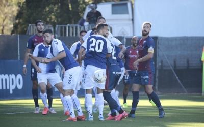 Acció a pilota aturada del partit d'avui a Pirámide | SD Huesca