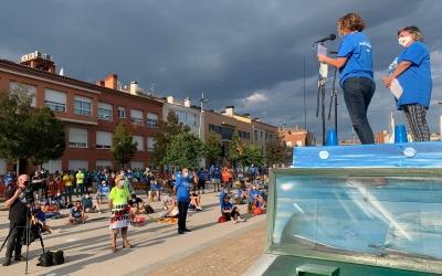L'acte central s'ha celebrat al costat de l'estació de Can Feu - Gràcia | Mireia Sans