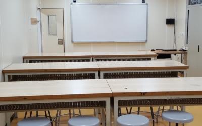 Una aula de l'Institut Arraona, un dels centres amb alumnes confinats/ Cedida