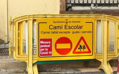 Tanca que barra el pas als vehicles d'ús privat | Ajuntament de Sabadell