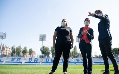 Bruno Batlle ha acompanyat Farrés i Reyes en la visita de l'estadi | Roger Benet