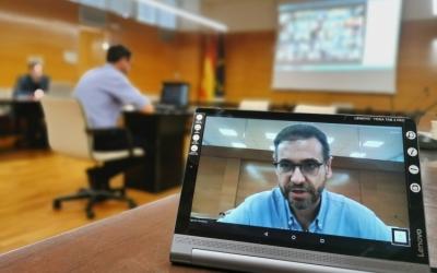 El president del Consell Comarcal, Ignasi Giménez, durant la presentació del Pla de xoc | Cedida