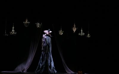 Elisa Vélez (Reina de la Nit) en l'última representació de La Flauta Màgica a La Faràndula, 2013 | AAOS