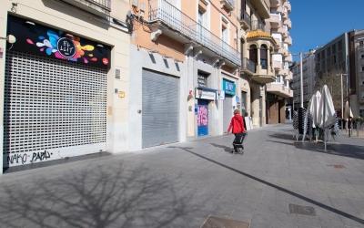 Bars del Passeig tancats, durant el confinament/ Roger Benet