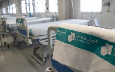 Imatge de llits buits de l'Hospital de Sabadell | Roger Benet (Arxiu)