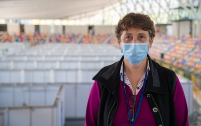 Pepi Rivera, responsable de Pediatria del Taulí, a l'Hospital Temporal Vallès Salut | Roger Benet