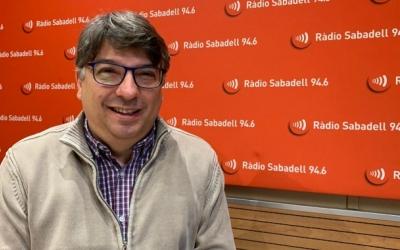 Xavier Martínez, a Ràdio Sabadell | Mireia Sans