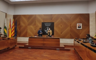 Chakirel Homrani ha estat rebut al Saló de Plens de l'Ajuntament de Sabadell | Pau Duran