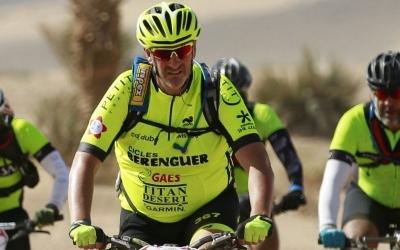 Santi Ramos, en una edició anterior de la Titan Desert | Cedida