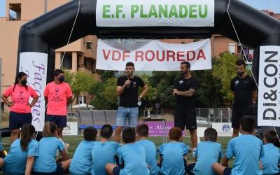 Antonio Hidalgo, tècnic del Sabadell, va visitar el I Campus del nou projecte | UE Planadeu Roureda