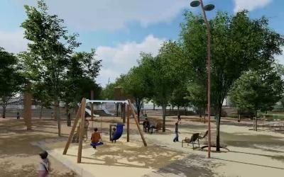 Imatge de com ha de quedar el jardí urbà de campoamor/ Cedida Ajuntament