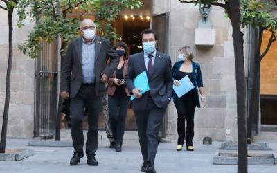 El govern català, abans de la reunió per aprovar el toc de queda | ACN