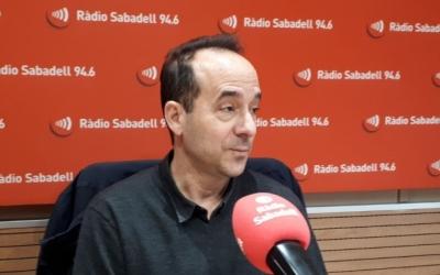 David Cánovas, neuròleg de l'Hospital de Sabadell, en una imatge del febrer a la ràdio | Karen Madrid