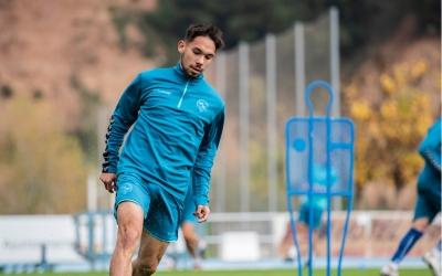 'Chino' Astals a l'entrenament d'ahir del Sabadell | Marc González Alomà - CES