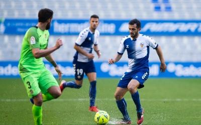 Óscar Rubio va ser el protagonista de la desafortunada acció del segon gol del Fuenlabrada | Marc González Alomà - CES