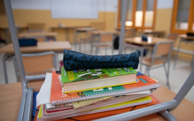 Una aula el primer dia del curs escolar | Roger Benet