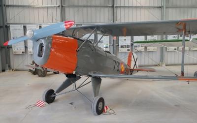 Una de les avionetes que s'exhibeixen al Museu   Pere Gallifa
