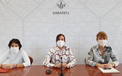 Morell, Farrés i Ciuró anunciant l'acord del pressupost del 2021 | Cedida