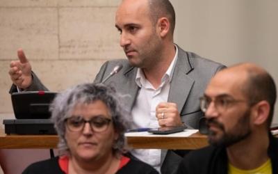 Adrián Hernández, portaveu de Ciutadans, al Ple/ Roger Benet