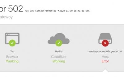 Error a la pàgina web per accedir a les ajudes | Cedida