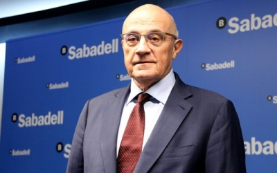 Josep Oliu, president de Banc Sabadell   ACN