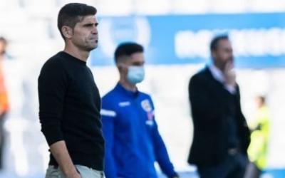 Antonio Hidalgo, en el partit contra l'Espanyol que també es va perdre a les acaballes | CES