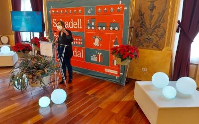 Marta Farrés, durant la presentació de la campanya de Nadal
