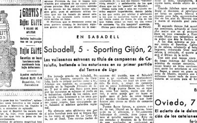 Recull de premsa del primer partit del Sabadell a Segona | Hemeroteca MD