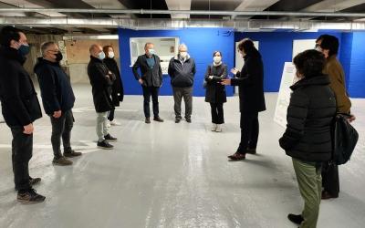 Ricard Font, president de FGC, visita les obres amb representants del consistori sabadellenc | Cedida