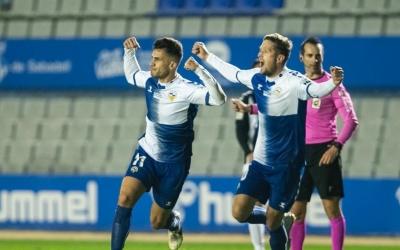 Néstor celebra el gol de l'empat | CES