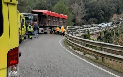 Imatge de l'accident a la C-1415b entre Terrassa i Castellar del Vallès | Anti-radar Catalunya