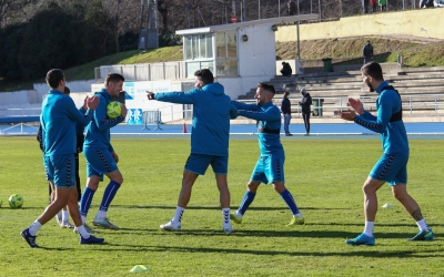 El darrer entrenament del Sabadell ha tingut lloc a Sant Oleguer | CE Sabadell