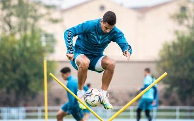 Guruzeta durant un entrenament aquesta temporada | Marc González Alomà - CES