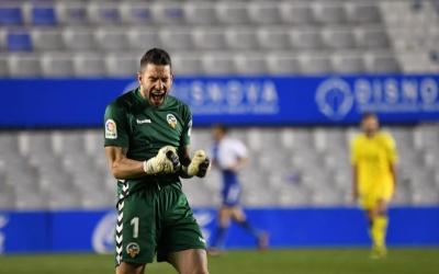 Mackay celebra el gol de l'empat de Juan Ibiza | Críspulo Díaz
