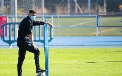 Antonio Hidalgo durant un entrenament aquesta temporada | Roger Benet