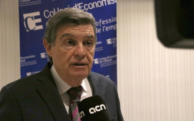 Joan B. Casas, exdegà del Col·legi d'Economistes de Catalunya   ACN