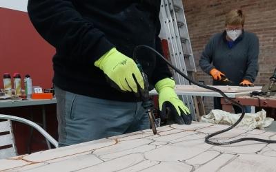 Construcció del pessebre de la ciutat/ Ajuntament de Sabadell