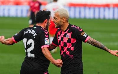 Óscar Rubio i Stoichkov celebren l'1-1   LaLiga