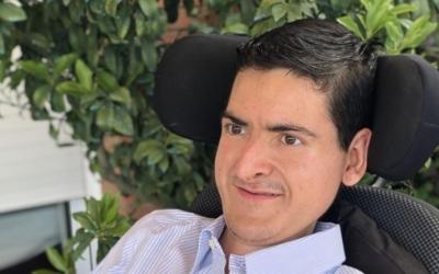 Xavi Argemí és un jove sabadellenc que pateix la distròfia muscular deDuchenne | Cedida