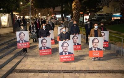 Els socialistes s'han trobat a la plaça del Pi   Roger Benet
