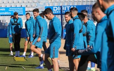 L'equip s'ha entrenat per últim cop aquesta setmana a l'escenari del partit de demà | CES