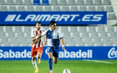 Víctor García en el partit de la primera volta contra l'Almería | Marc González Alomà - CES