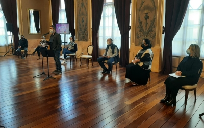 Carles de la Rosa presentant la tmeporada cultural al Teatre Principal | Cedida