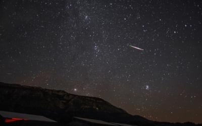 Imatge d'una pluja d'estels/ Cedida