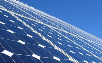 Detall d'una placa solar/ Cedida