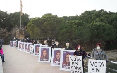 Els membres d'En Comú Podem al Parc Catalunya | Cedida