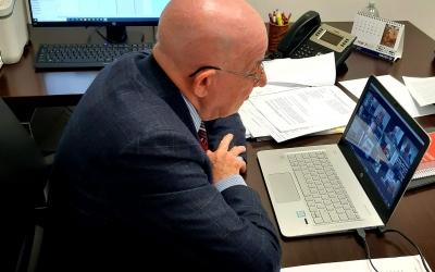 Antoni Quintana, al seu despatx | Cedida