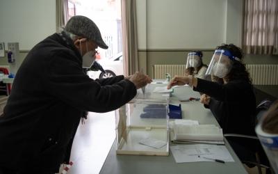 Un ciutadà votant/ Roger Benet
