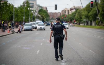 Un agent de la Policia Municipal   Roger Benet