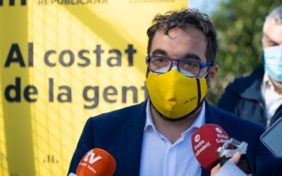 Juli Fernàndez durant un acte de campanya | Roger Benet